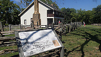 NWA Democrat-Gazette/FLIP PUTTHOFF <br /> Elkhorn Tavern is a popular stop      Sept. 3 2016    for bike riders and all visitors at Pea Ridge National Military Park.