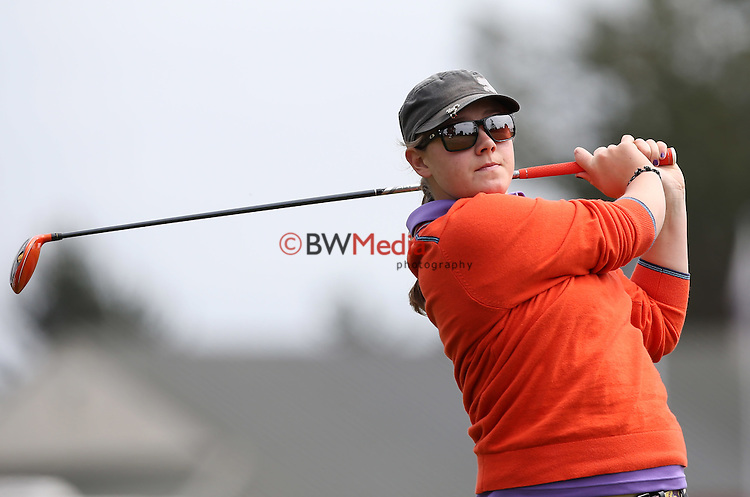Ela Grimwood. during Round One of the Jennian Homes Charles Tour John Jones Steel Harewood Open, Harewood Golf Course, Christchurch, New Zealand. Thursday 22nd October 2015. Photo: Simon Watts/www.bwmedia.co.nz <br /> All images &copy; NZ Golf and BWMedia.co.nz