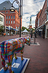 The Church St Marketplace in Burlington, VT, USA