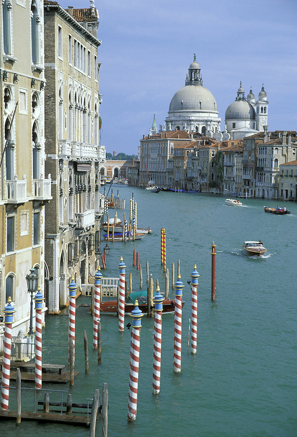 Grand Canal with S. Maria della Salute in distance, Venice, Italy