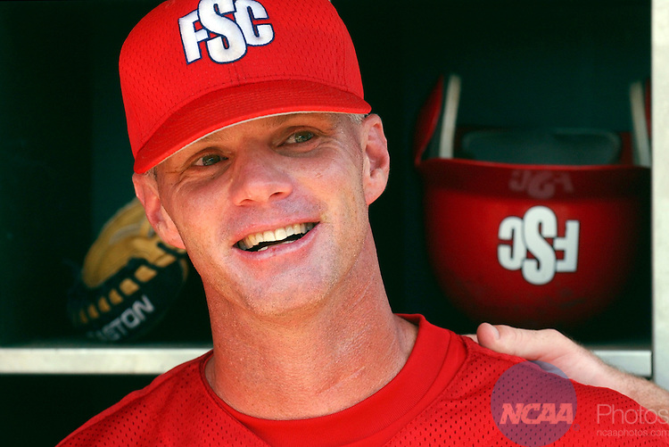 04 JUNE 2005:  Head Coach Pete Meyer of Florida Southern celebrates his teams' victory over North Florida during the Division II Men's Baseball Championship held at Riverwalk Stadium in Montgomery, AL.  Florida Southern defeated North Florida 12-9 for the national title.  David Bundy/NCAA Photos