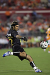 25 July 2007:  Alberto Becerra (12) goalie for Club America.  Club America was defeated by the Houston Dynamo 0-1 at Robertson Stadium in Houston, Texas, in a first round SuperLiga 2007 match.