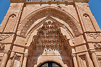 Main gate  of the 18th Century Ottoman architecture of the Ishak Pasha Palace (Turkish: İshak Paşa Sarayı) ,  Agrı province of eastern Turkey.