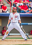 13 March 2016: Washington Nationals outfielder Jayson Werth stands in the batters box during a pre-season Spring Training game against the St. Louis Cardinals at Space Coast Stadium in Viera, Florida. The teams played to a 4-4 draw in Grapefruit League play. Mandatory Credit: Ed Wolfstein Photo *** RAW (NEF) Image File Available ***