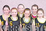 CARE BEARS: The Bears team who took care of their opponents at the Basketball blitz in Currow Community Centre on Sunday were l-r: Ellen Browne, Rachel O'Connor, Siobha?n Kelly, Michaela Breen, Amy King and Rowan Collier.   Copyright Kerry's Eye 2008