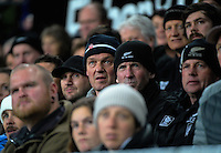 Fans watch a replay during the Steinlager Series rugby union match between the New Zealand All Blacks and Wales at Forsyth Barr Stadium, Wellington, New Zealand on Saturday, 25 June 2016. Photo: Dave Lintott / lintottphoto.co.nz