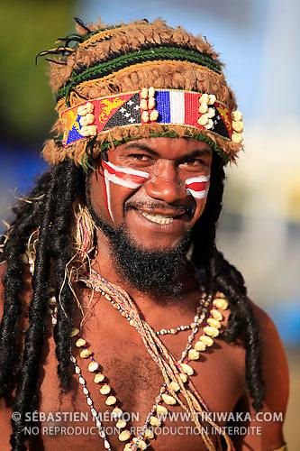 Musicien de Papouasie Nouvelle-Guinée