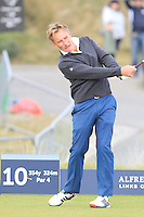 Christian Nellermann (AM) on the 10th tee during Round 3 of the 2015 Alfred Dunhill Links Championship at Kingsbarns in Scotland on 3/10/15.<br /> Picture: Thos Caffrey | Golffile