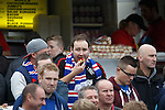 Rangers fans enjoying the half time cuisine