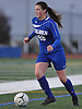 Kathryn Healy #28 of Calhoun moves the ball downfield during the Nassau County varsity girls soccer Class AA final against Massapequa at Cold Spring Harbor High School on Tuesday, Nov. 1, 2016. Massapequa won by a score of 5-1.