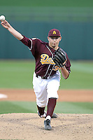Mark Lambson #39 of the Arizona State Sun Devils pitches against Northern Illinois University in the annual Coca-Cola Classic at Surprise Stadium on March 4, 2011 in Surprise, Arizona..Photo by:  Bill Mitchell/Four Seam Images.