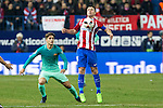 FC Barcelona's Denis Suarez (L) -and Atletico de Madrid's midfielder Gabi Fernandez (R) competes for the ball with  during the match of Copa del Rey between Atletico de  Madrid and Futbol Club Barcelona at Vicente Calderon Stadium in Madrid, Spain. February 1st 2017. (ALTERPHOTOS/Rodrigo Jimenez)