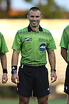 11 September 2015: Referee Chris Penso. The Duke University Blue Devils hosted the University of Virginia Cavaliers at Koskinen Stadium in Durham, NC in a 2015 NCAA Division I Men's Soccer match. The game ended in a 2-2 tie after overtime.
