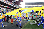 24 JUN 2010: The FIFA Fair Play banner is walked onto the field. The Slovakia National Team defeated the Italy National Team 3-2 at Ellis Park Stadium in Johannesburg, South Africa in a 2010 FIFA World Cup Group F match.