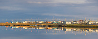 Panorama of the village of Kaktovik on Barter Island along the Beaufort Sea, Arctic, Alaska.
