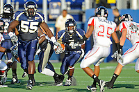 27 November 2010:  FIU wide receiver T.Y. Hilton (4) returns a kickoff in the second quarter as the FIU Golden Panthers defeated the Arkansas State Red Wolves, 31-24, at FIU Stadium in Miami, Florida.