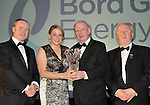At the Bord G&aacute;is Energy Munster GAA Sports Star of the Year Awards in The Malton Hotel, Killarney on Saturday night were front from left, Dave Kirwan, Managing Director, Bord Gais Energy, Michelle Casey Limerick, Camogie award, Munster Council and Robert Frost, Chairman, Munster GAA.<br /> Picture by Don MacMonagle<br /> <br /> PR photo from Munster Council