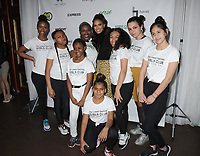10 April 2019 - New York, New York - Nessa Diab and L.E.S. Club Members at the 2019 Lower Eastside Girls Club Spring Fling, at the Angel Orensanz Foundation on the Lower East Side. Photo Credit: LJ Fotos/AdMedia