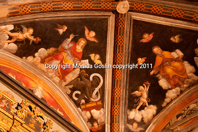 16th century frescos in the church of S. Vincenzo in Gera Lario, a town on Lake Como, Italy