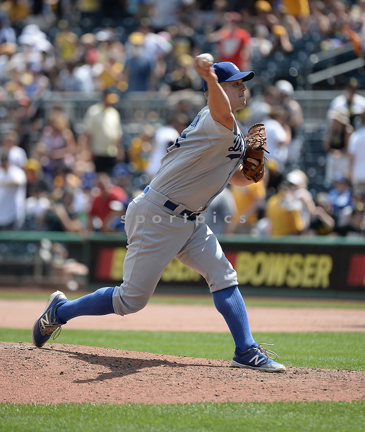 Los Angeles Dodgers Joe Blanton (55) during a game against the Pittsburgh Pirates on June 27, 2016 at PNC Park in Pittsburgh, PA. The Dodgers beat the Pirates 4-3.