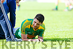 Bryan Sheehan receives treatment during their SFC clash in Fitzgerald Stadium on Sunday