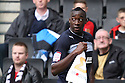 Lucas Akins of Stevenage scores the winning goal and celebrates. MK Dons v Stevenage - npower League 1 - Stadium MK,  Milton Keynes - 20th October, 2012. © Kevin Coleman 2012