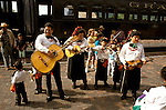 AZ, Grand Canyon National Park, Arizona, Grand Canyon Railway from Williams to the South Rim, Entertainment in the railroad station.Photo Copyright: Lee Foster, lee@fostertravel.com, www.fostertravel.com, (510) 549-2202.azgran236
