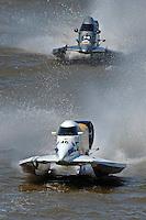 Leader Kris Shepard, (#46) is chased by Jeff Reno, #34.  (SST-120 class)