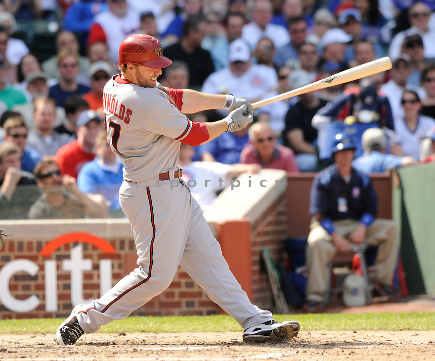 MARK REYNOLDS, of the Arizona Diamondbacks, in action during the Diamondbacks  game against the Chicago Cubs at  Wrigley Field in Chicago, IL  on April 29, 2010...The Arizona Diamondbacks win 13-5.