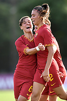 Agnese Bonfantini of AS Roma celebrates after scoring the goal of 2-2 with Federica Di Criscio  <br /> Roma 8/9/2019 Stadio Tre Fontane <br /> Luisa Petrucci Trophy 2019<br /> AS Roma - Paris Saint Germain<br /> Photo Andrea Staccioli / Insidefoto