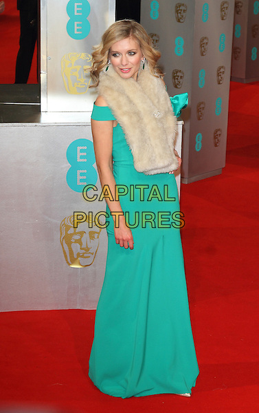 LONDON, ENGLAND - FEBRUARY 08: Rachel Riley attends the EE British Academy Film Awards at The Royal Opera House on February 8, 2015 in London, England<br /> CAP/ROS<br /> &copy;Steve Ross/Capital Pictures