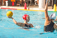 Stanford, CA - April 28, 2019: Hannah Shabb during the Stanford vs USC MPSF Women's Water Polo Championship Sunday at the Avery Aquatic Center.<br /> <br /> No. 1 Stanford lost the MPSF Championship in sudden death to the No. 2 Trojans, 9-8.