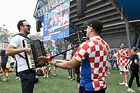 8th January 2020; Sydney Olympic Park Tennis Centre, Sydney, New South Wales, Australia; ATP Cup Australia, Sydney, Day 6; Croatia versus Argentina; musicians entertain the Croatian fans outside the Ken Rosewall Arena before the match - Editorial Use