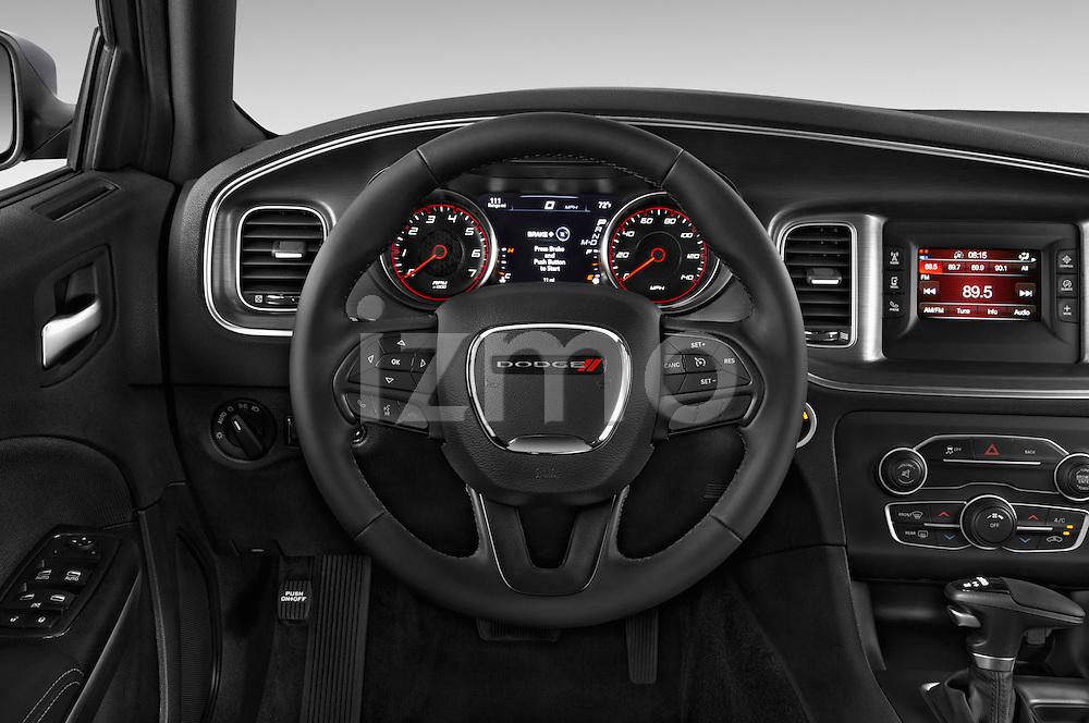 Car pictures of steering wheel view of a 2015 Dodge Charger SE FWD 4 Door Sedan Steering Wheel