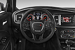 Car pictures of steering wheel view of a 2015 Dodge Charger SE FWD 4 Door Sedan Steering Wheel