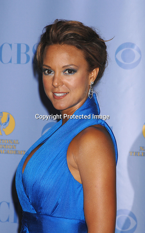 Eva LaRue in Lloyd Klein dress..posing for photographers in the Press Room at The 34th Annual Daytime Emmy Awards on June 15,2007 at The ..Kodak Theatre in Hollywood, California. ..Robin Platzer, Twin Images......212-935-0770