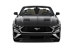 Car photography straight front view of a 2018 Ford Mustang EcoBoost 2 Door Convertible