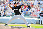 8 March 2011: New York Yankees' pitcher Warner Madrigal on the mound during a Spring Training game against the Atlanta Braves at Champion Park in Orlando, Florida. The Yankees edged out the Braves 5-4 in Grapefruit League action. Mandatory Credit: Ed Wolfstein Photo