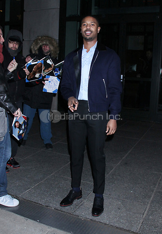 NEW YORK, NY - January 10: Michael B. Jordan seen in New York City on January 10, 2019. Credit: RW/MediaPunch