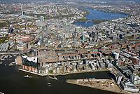 Hamburg, von der Hafencity bis zur Alster: EUROPA, DEUTSCHLAND, HAMBURG, (EUROPE, GERMANY), 13.10.2018: Hamburg, von der Hafencity bis zur Alster