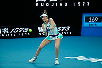 26th January 2020; Melbourne Park, Melbourne, Victoria, Australia; Australian Open Tennis, Day 7; Alison Riske of USA returns during her match against Ashleigh Barty of Australia