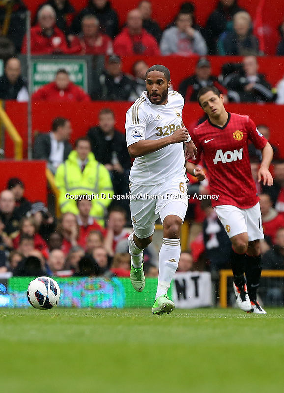 Pictured: Ashley Williams.<br /> Sunday 12 May 2013<br /> Re: Barclay's Premier League, Manchester City FC v Swansea City FC at the Old Trafford Stadium, Manchester.