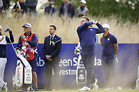 Tyrrell Hatton (Team Europe) on the 6th during the friday fourballs at the Ryder Cup, Le Golf National, Iles-de-France, France. 27/09/2018.<br /> Picture Fran Caffrey / Golffile.ie<br /> <br /> All photo usage must carry mandatory copyright credit (© Golffile | Fran Caffrey)
