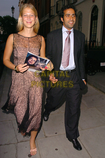 "LADY GABRIELLA WINDSOR & GUEST.Attends the ""In The Pink"" Gala Reception at Cadogan Hall, London, in aid of Breast Cancer Haven..June 20th 2005..full length royal black sheer layered dress couple.Ref: CAN.www.capitalpictures.com.sales@capitalpictures.com.©Can Nguyen/Capital Pictures"