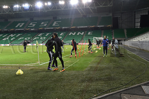 17.02.2016. St Etienne, France. Europa League Football. Press conference and practise for FC Basel.  Team practise