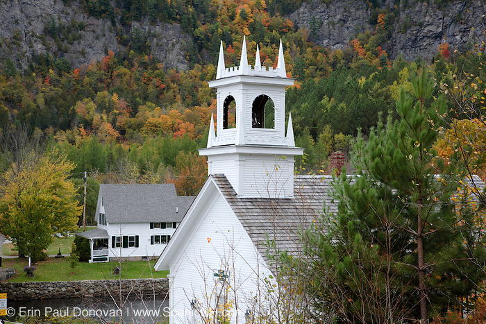 Stark Village in the historical district of Stark, New Hampshire USA  during the autumn months