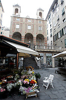 Una veduta di Piazza Banchi a Genova.<br /> A view of Piazza Banchi in Genoa.<br /> UPDATE IMAGES PRESS/Riccardo De Luca