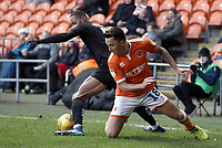 Blackpool's John O'Sullivan battles with Barnsley's Ethan Pinnock<br /> <br /> Photographer Rich Linley/CameraSport<br /> <br /> The EFL Sky Bet League One - Blackpool v Barnsley - Saturday 22nd December 2018 - Bloomfield Road - Blackpool<br /> <br /> World Copyright &copy; 2018 CameraSport. All rights reserved. 43 Linden Ave. Countesthorpe. Leicester. England. LE8 5PG - Tel: +44 (0) 116 277 4147 - admin@camerasport.com - www.camerasport.com
