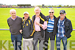 Some of the Dr Crokes men at the Con Keating Park Cahersiveen looking for a result against South Kerry on Sunday last were l-r; Harry Bartlett, Michael O'Leary, Sean Brosnan, John McEnery & Joe Walsh.....Ref Jimmy D & Jim O G