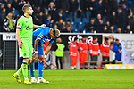 01.12.2018, wirsol Rhein-Neckar-Arena, Sinsheim, GER, 1 FBL, TSG 1899 Hoffenheim vs FC Schalke 04, <br /> <br /> DFL REGULATIONS PROHIBIT ANY USE OF PHOTOGRAPHS AS IMAGE SEQUENCES AND/OR QUASI-VIDEO.<br /> <br /> im Bild: Frust bei Matija Nastasic (#5, FC Schalke 04) und Joelinton (TSG Hoffenheim #34)<br /> <br /> Foto © nordphoto / Fabisch